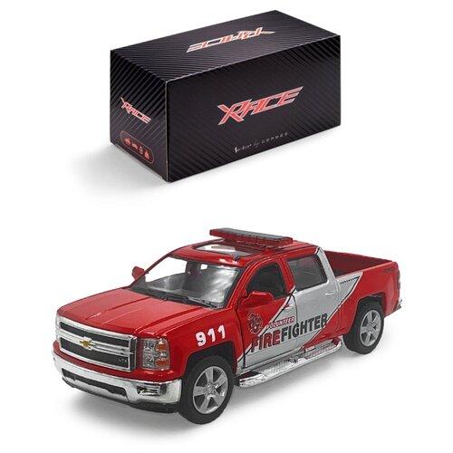 Купить Детская инерционная металлическая машинка Serinity Toys, с открывающимися дверями, модель Chevrolet Silverado пожарная, красный, Машинки и техника