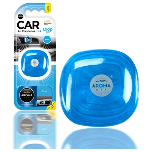 Ароматизатор автомобильный на дефлектор Aroma Car LOOP GEL, Aqua