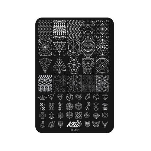 Купить Трафарет KLIO Professional №021 11 х 15 см black