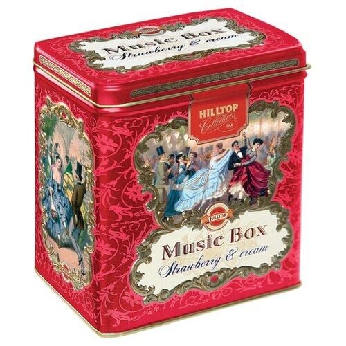 Чай черный Hilltop Music box Земляника со сливками подарочный набор, 125 г hilltop ожидание набор зеленого и черного листового чая в шкатулке 150 г