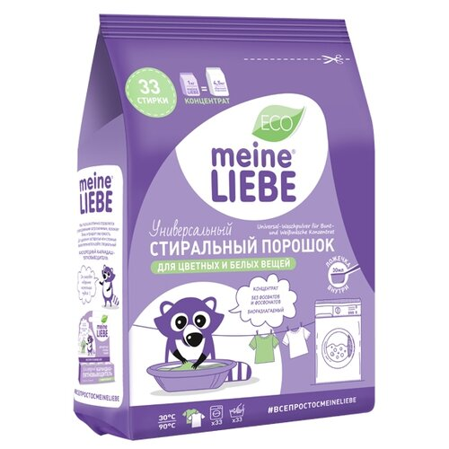 Стиральный порошок Meine Liebe Универсальный пластиковый пакет 1 кг стиральный порошок la mamma универсальный 2 кг пластиковый пакет