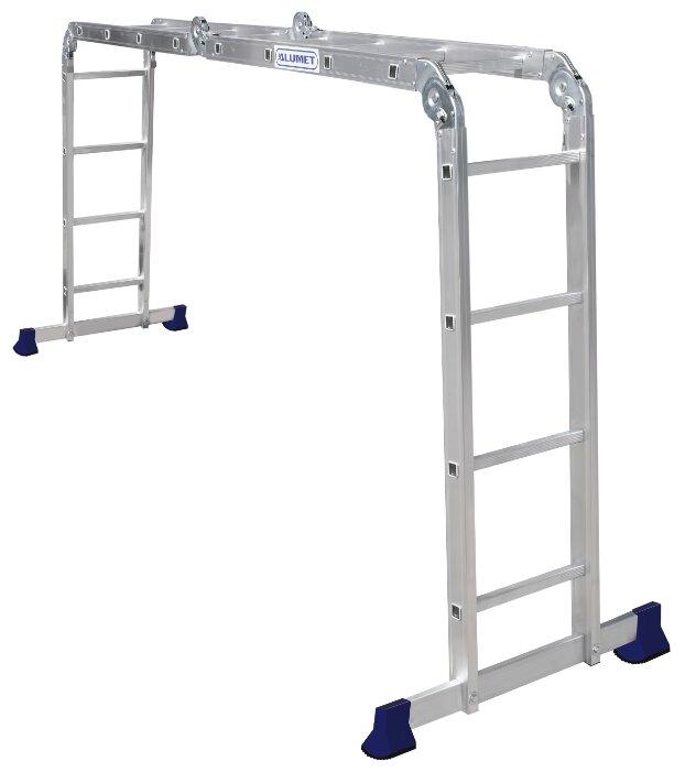Купить Лестница трансформер 4-секционная ALUMET ТL4044 по низкой цене с доставкой из Яндекс.Маркета
