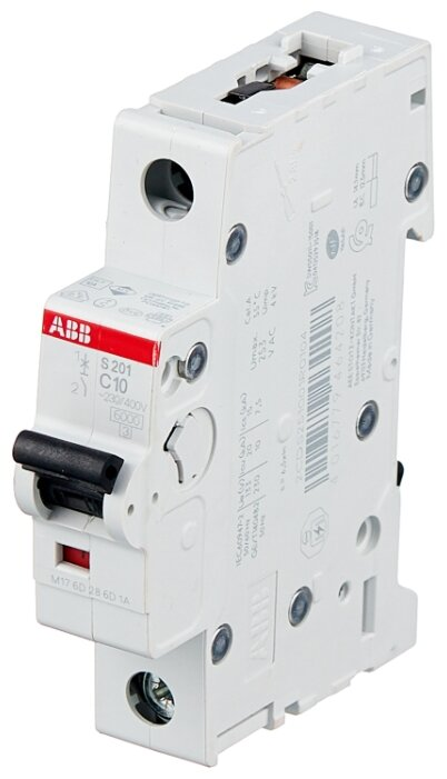 S201/C25 ABB Автоматический выключатель 1п 25A, 6kA