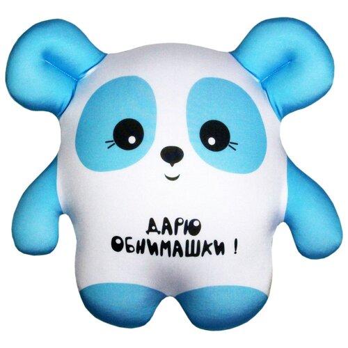 Купить Игрушка-антистресс Штучки, к которым тянутся ручки Панда голубая 22 см, Мягкие игрушки