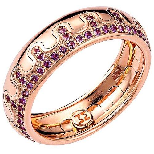Эстет Кольцо с 80 аметистами из красного золота 01О310312А, размер 18.5 эстет кольцо с 80 аметистами из красного золота 01о310312а размер 18 5