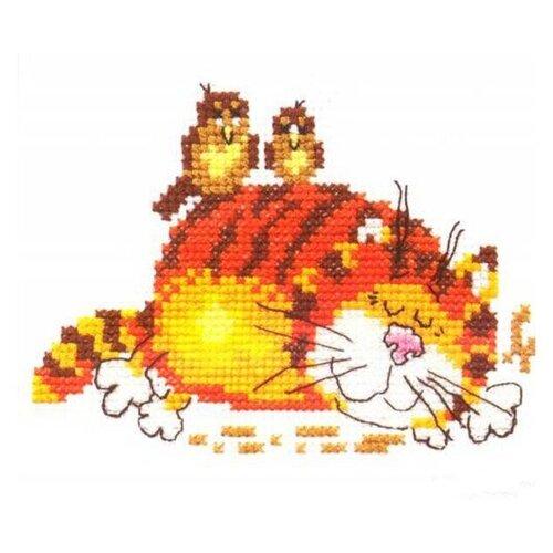 Фото - Алиса Набор для вышивания Ленивый кот 11 x 9 см (0-01) алиса набор для вышивания тюльпаны малиновое сияние 22 x 26 см 2 43