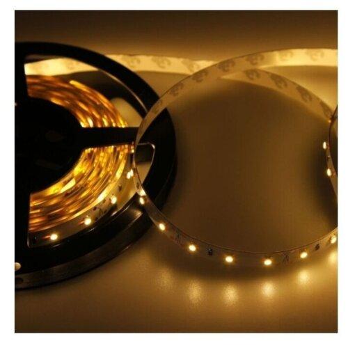 Светодиодная LED лента LAMPER 5 м, IP23, SMD 2835, 60 LED/m, 12 V, цвет свечения теплый белый