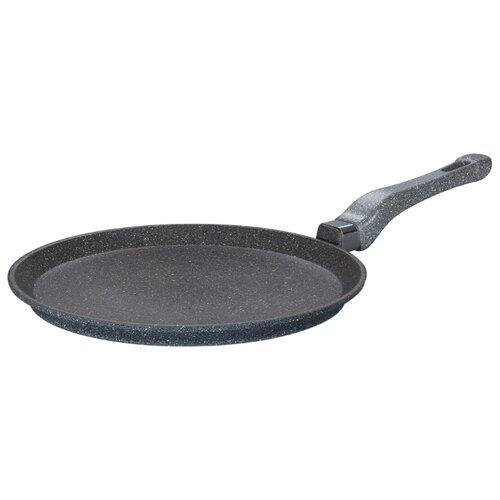 Сковорода блинная Elan gallery Мрамор 120097 26 см, черный сковорода d 24 см kukmara кофейный мрамор смки240а