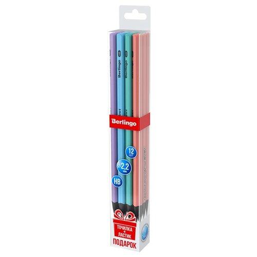 Купить Berlingo Набор чернографитных карандашей 4 дизайна Instinct 12 шт (BP01196_12), Карандаши
