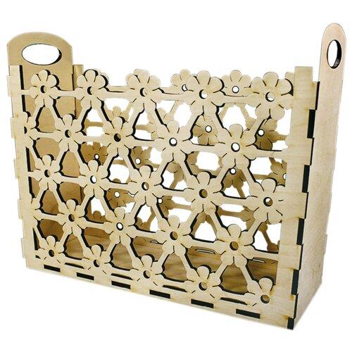 Купить L-418 Деревянная заготовка корзина для бумаг 'Цветок' 34*44*15 см, 'Астра', Astra & Craft, Декоративные элементы и материалы