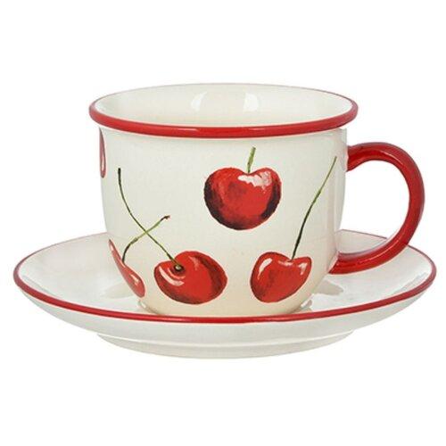 Millimi Чайная пара Вишни 340 мл белый/красный