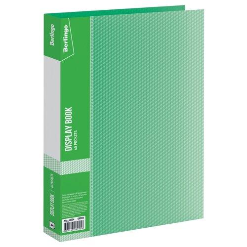 Купить Berlingo Папка с 60 вкладышами Diamond A4, пластик 700 мкм зеленый, Файлы и папки