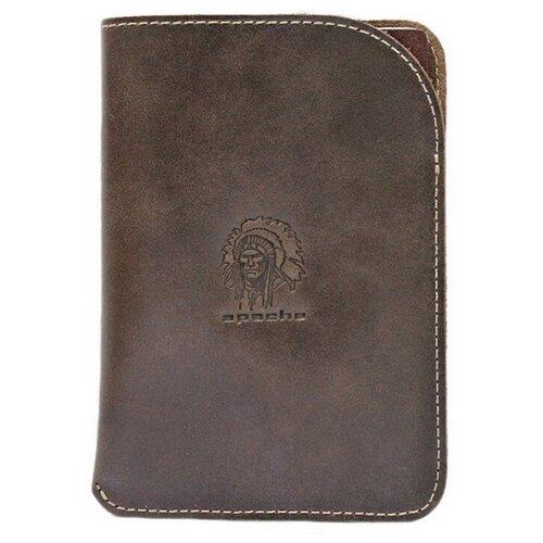 Обложка для паспорта Apache ОП-А, коричневый