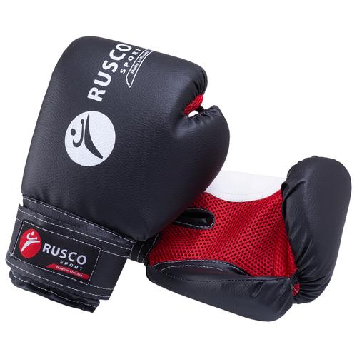 Перчатки боксерские, Rusco 10oz, к/з, черный