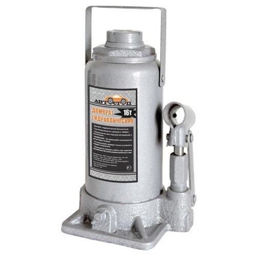 Домкрат бутылочный гидравлический Автостоп AJ-016 (16 т) серый домкрат бутылочный гидравлический автостоп aj 016 16 т серый