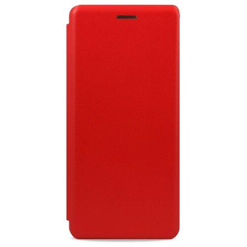 Кожаный чехол для Xiaomi Redmi 7 и Redmi Y3 / Чехол Книжка на Сяоми Редми 7 и Редми У3 с кармашком для карт (Красный)