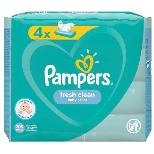 Влажные салфетки Pampers Fresh Clean, липучка, 208 шт.