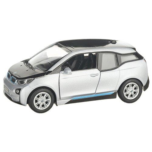 Детская инерционная металлическая машинка с открывающимися дверями, модель BMW i3, серебристый