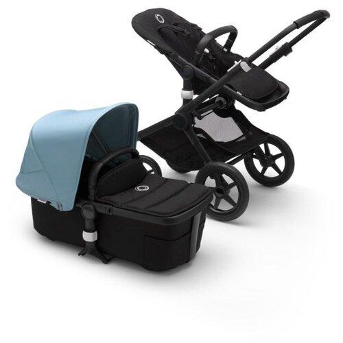 Купить Универсальная коляска Bugaboo Fox 2 complete (2 в 1) black/black/vapor blue, цвет шасси: черный, Коляски