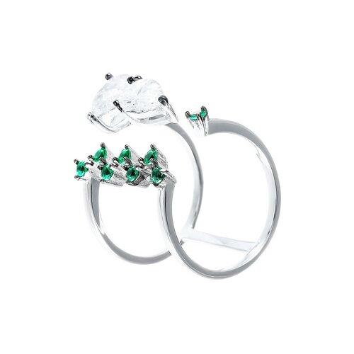 ELEMENT47 Кольцо из серебра 925 пробы с кубическим цирконием R27134-H1_KO_001_WG, размер 17.5