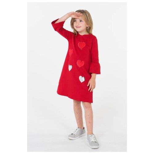 Платье Sarabanda размер 104, красный платье oodji ultra цвет красный белый 14001071 13 46148 4512s размер xs 42 170