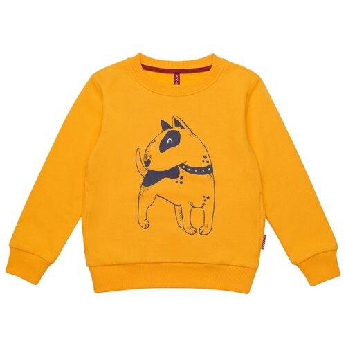 Свитшот Kogankids размер 116, жёлтый платье kogankids размер 116 синий