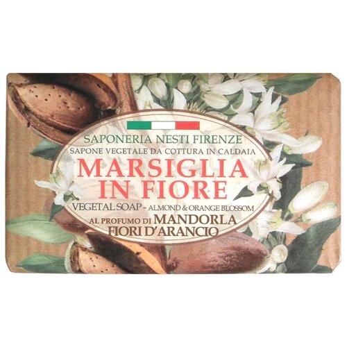 Мыло кусковое Nesti Dante Marsiglia in Fiore Mandorla Fiori d'Arancio, 125 г nesti dante мыло vero marsiglia мед 150 г