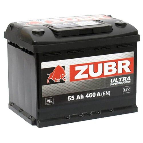 ZUBR Аккумуляторная батарея автомобильная Ultra 55 A/h обратная полярность