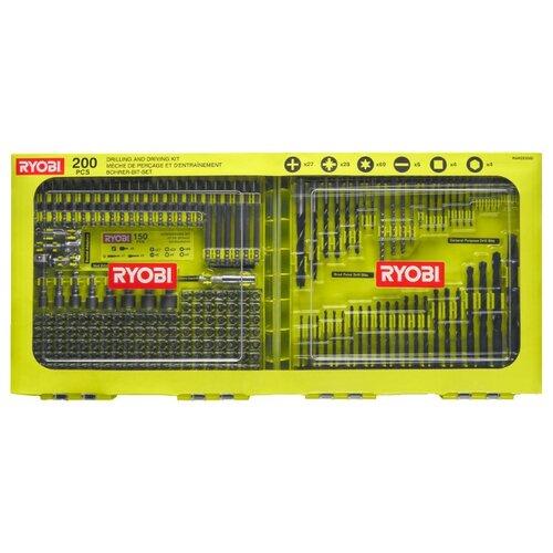 Набор бит и свёрл RYOBI RAKDD200, 200 предм., желтый/черный