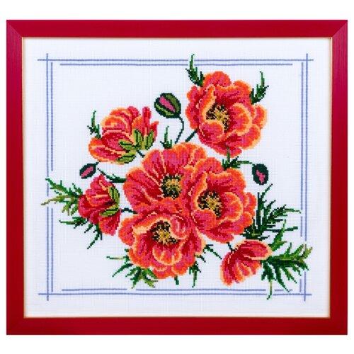 Фото - Ажур Набор для вышивания крестиком Маки 29 х 26 см (0019) ажур набор для вышивания крестиком цветущий кактус 26 х 17 см 0010