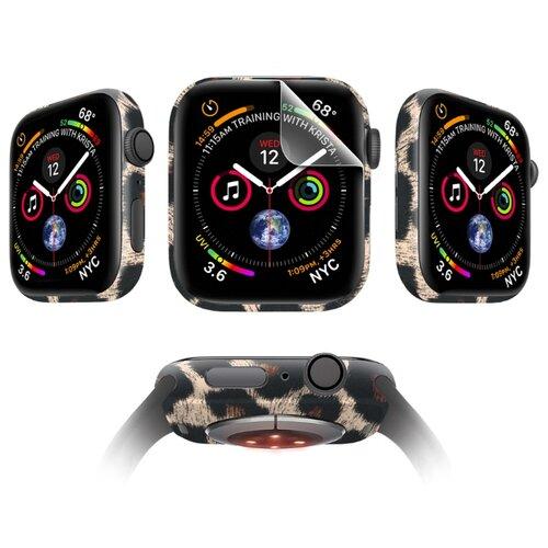 Комплект защитных пленок MOCOLL Apple Watch 38mm для дисплея Глянцевая (2шт) и для корпуса (2шт) Гепард