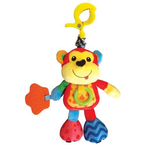 Подвесная игрушка Азбукварик Обезьянка Люленьки красный/желтый фото