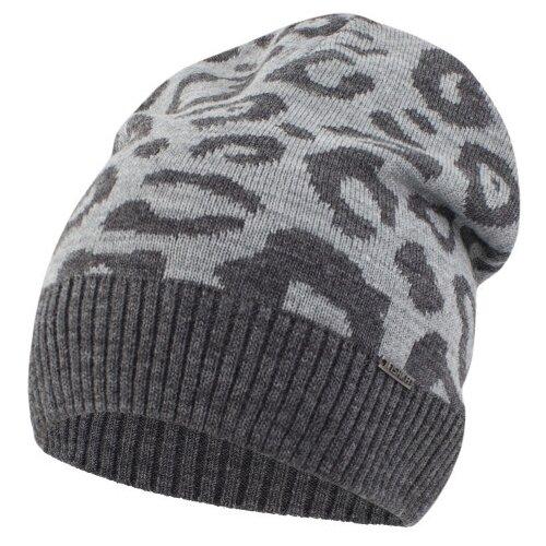 Шапка-бини Fishka размер 54-56, темно-серый/светло-серый шапка r mountain арт ice 8172 темно серый