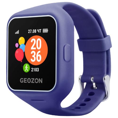 Детские умные часы c GPS GEOZON LIFE синий детские умные часы c gps geozon active розовый