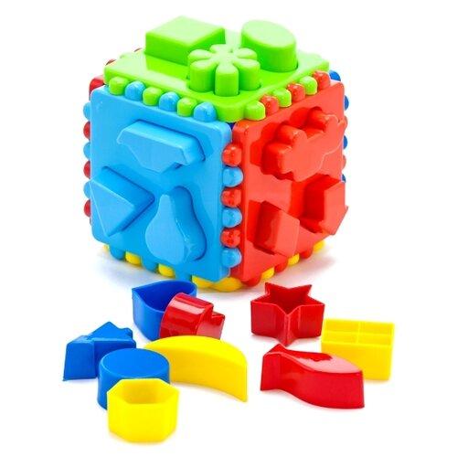 Сортер Karolina toys Кубик логический большой karolina toys набор для песочницы замок 3 предмета