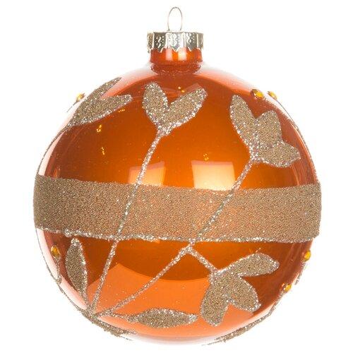 Набор шаров KARLSBACH 06784, оранжевый с золотым узором