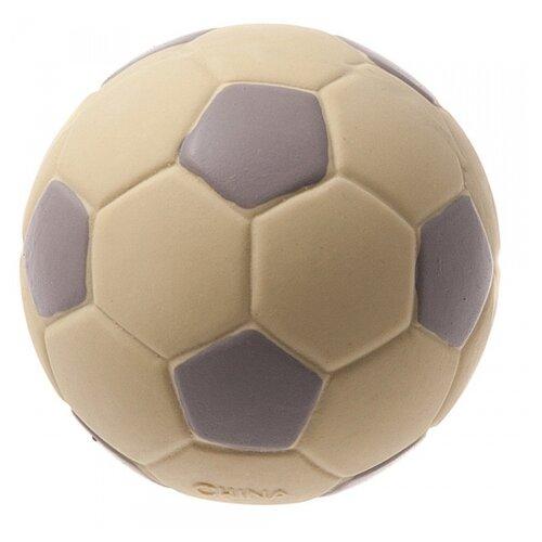 Мячик для собак ZooOne L-434 Футбольный 7,5 см бежевый