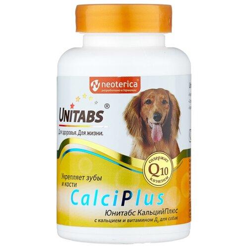 Добавка в корм Unitabs CalciPlus с кальцием и витамином Д 100 шт. добавка в корм unitabs prebiotic для кошек и собак 100 шт
