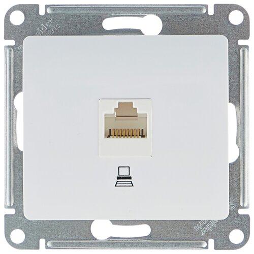 Розетка для интернета / телефона RJ45 Schneider Electric GLOSSA GSL000181K, белый розетка 1 пост комп rj45 schneider electric glossa кат 5 белый