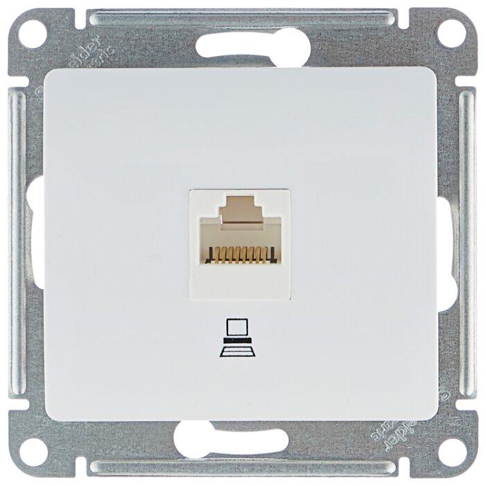 Розетка для интернета / телефона Schneider Electric GLOSSA GSL000181K, белый