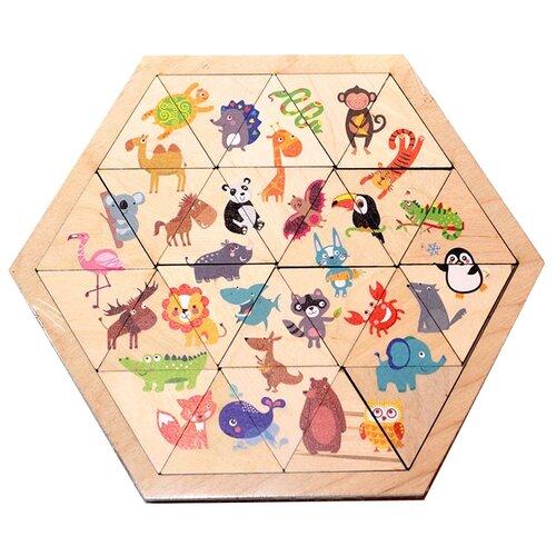 Рамка-вкладыш Десятое королевство Веселый зоопарк (00780), 24 дет.