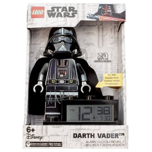9004216 Будильник LEGO Star Wars, минифигура Darth Vader ночники lego игрушка минифигура фонарь star wars штормтрупер