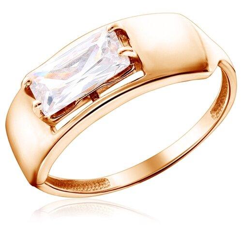 Фото - Бронницкий Ювелир Кольцо из красного золота К132-4758, размер 16.5 кольцо из золота к230 4758