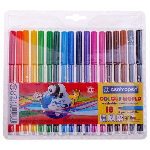 Фото - Centropen Набор фломастеров Colour World, 18 шт. (7550/18 TP) centropen набор фломастеров rainbow kids 12 шт 7550 12