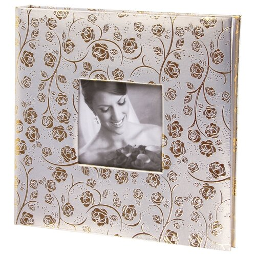 цена на Фотоальбом BRAUBERG Свадебный под фактурную кожу (391126), 240 фото, золотистый