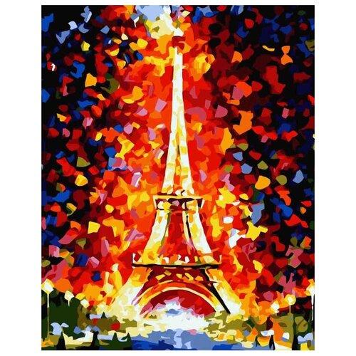 Картина по номерам Париж - огни Эйфелевой башни, 30x40 см картина постер в раме postermarket эйфелевой башни 27х32см