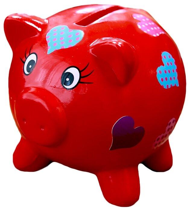 Копилка маленькая - Красная свинка