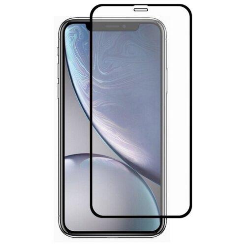Полноэкранное защитное стекло для iPhone XR и iPhone 11 / Стекло на айфон XR и Айфон 11 / 18D стекло с силиконовой рамкой на весь экран / Full Glue (Черный)