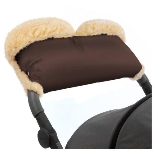 Купить Муфта для рук на коляску Esspero Diaz Lux (Натуральная шерсть) (Chocolate), Аксессуары для колясок и автокресел