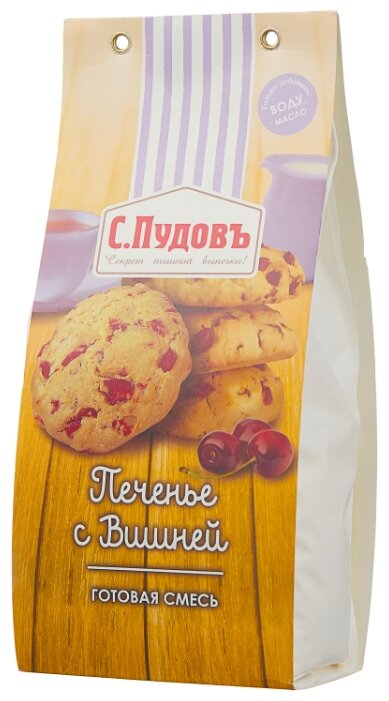 С.Пудовъ Мучная смесь Печенье с вишней, 0.35 кг